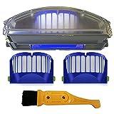 Piezas de repuesto para aspiradora Irobot Fit para Roomba 500 600 Series Aero Vac Dust Bin Filter Aerovac Bin Collector 510 520 530 535 540 536 531 620 63 (color: azul)