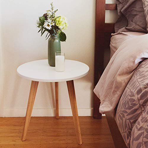 Modern Round End Table (Real Bamboo)