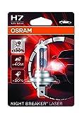 OSRAM NIGHT BREAKER LASER H7, lampada alogena per proiettori, 64210NBL-01B, 12V PKW, blister singolo (1 pezzo)