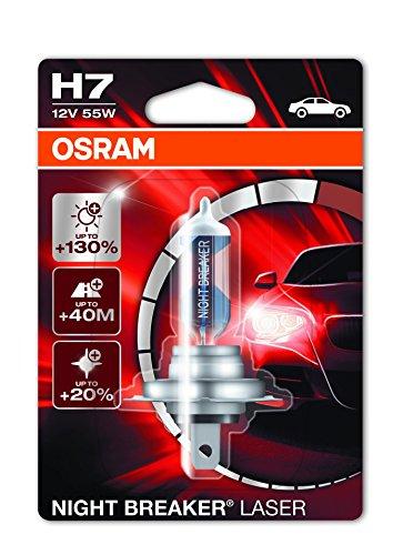 Osram 64210NBL-01B Night Breaker Laser H7 Halogen Scheinwerferlampe, 12V, Einzelblister, 1 Stück