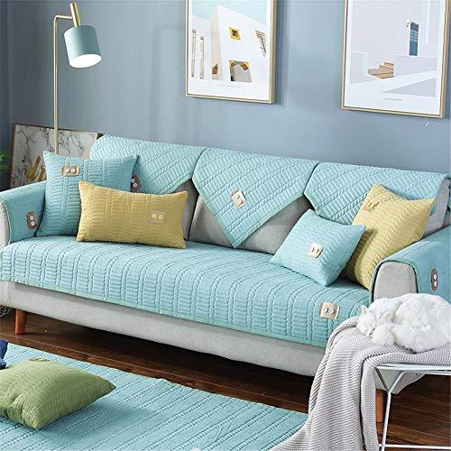 QBFT Universele bankovertrek, fluweel, zacht, antislip, comfortabele sofa-sprei, met armleuningen, 1 2-3 4-zitsbank, per stuk