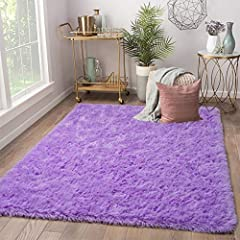 NO SHEDDING & FADE FLOOR RUGS: Our rug factory are qualified to provide you with decent carpets by having over 20 years experience in producing furry rug. Advanced machinery and mature weaving technology is the reason we can survive. PERFECT HOME DEC...