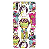 dakanna Funda Compatible con [ Bq Aquaris X5 Plus ] de Silicona Flexible, Dibujo Diseño [ Patrón Animales buhos Multicolor ], Color [Borde Transparente] Carcasa Case Cover de Gel TPU para Smartphone