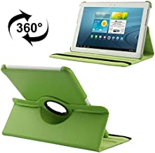 Tablet Covers, 360 Degree Rotatable Litchi Texture Leather Case with Holder for Samsung Galaxy Tab 2 (10.1) / P5100,Easy to Carry (Color : Green)