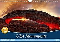 USA Monuments - Landschaften die beeindrucken (Wandkalender 2022 DIN A4 quer): Einzigartige Monumente der Natur (Monatskalender, 14 Seiten )