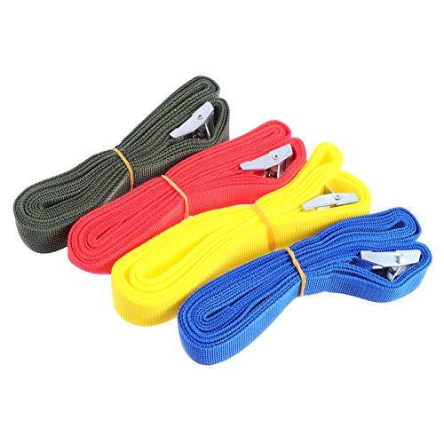 VICASKY 4 Piezas Correas de Amarre Correas de Amarre Cinturón de Tensión para Equipos de Césped Aparatos Móviles Motocicleta Correas de Trinquete de Liberación Rápida Color Aleatorio