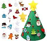 KEEHOM Set rbol de Navidad de Fieltro y Pegatinas para Ventana, DIY Decoracin Navidad Ao Nuevo Colgante con Piezas de Adorno, Regalo para Nios