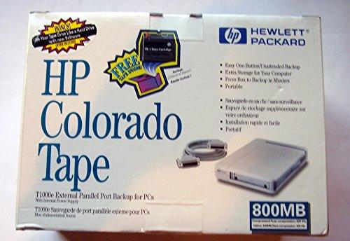 HP Colorado T1000E 400/800MB External Tape Drive