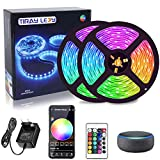 10M Tiras LED Wifi, Tiray Ledy 300 LEDs compatible con Alexa, Google home, 16 millones de colores, Control por App, Tira led musical para casa, cocina, TV, fiesta, para iOS y Android