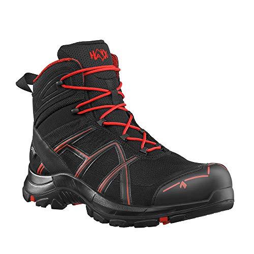 Haix Black Eagle Safety 40.1 mid/Black-red Praktische Arbeitskleidung: Sicherheitsschuhe für Handwerker. 44