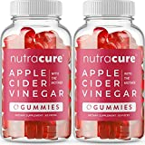 (2-Pack) Nutracure Apple Cider Vinegar Gummies for Weight Loss, Detox, & Cleanse - Non-GMO ACV Gummies with The Mother