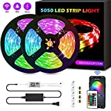 LED Strip Lights, FURANDE Smart 32.8ft RGB Led Light Strips 300 5050 LEDs Waterproof Rope Light with App and Remote Controller Sync to Music, Color Changing LED Strip Lights for Bedroom with Alexa