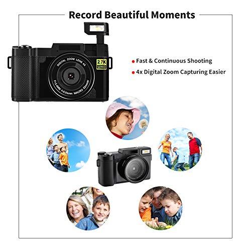 Cámara Digital Vlogging Cámara, 24MP Ultra HD 2.7K WiFi Youtube ...