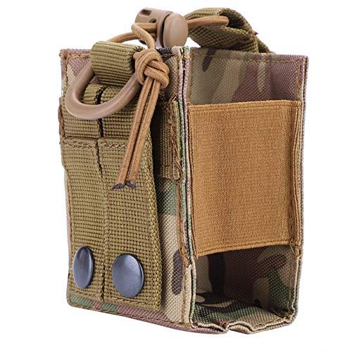 FOLOSAFENAR Estuche versátil para Soporte de Radio Estuche para interfono 3.7 x 2.8 x 2 Pulgadas, para Juegos de Caza de Combate al Aire Libre con Hebilla de Correa(CP Camouflage)