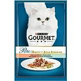 Gourmet Perle Alimento para el Gato, Duetti de Playa con salmón y merluzzo, 85g–Pack de 24Unidades