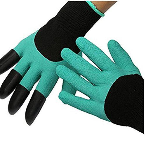 VWH 1 paire Plastique ABS griffes Gants de jardinage pour creuser plantation Chambre d'enfant plantes