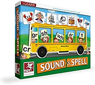 Toykraft: Sound & Spell - 80 Self Correcting Jigsaw Pieces for Ages 5 6 7 - Learn to Spell with Sounds For Preschoolers Schoolers