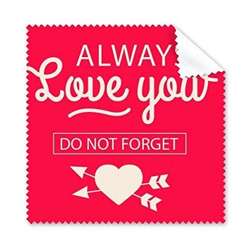 Valentijnsdag altijd liefde u niet vergeten roze hart pijlen illustratie patroon bril doek schoonmaken doek telefoon scherm reiniger 5 stks