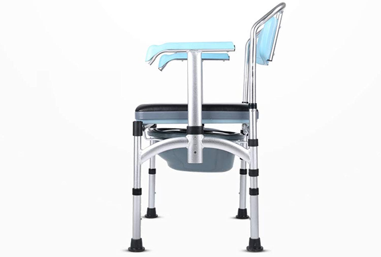 Toilet Chair, Foldable Toilet, Non-Slip Elderly Pregnant Women Bath Stool, Adjustable Height Toilet Disabled Patient Home Mobile Toilet