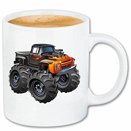 Reifen-Markt Kaffeetasse Off Road 4X4 Monster Truck 4×4 GELÄNDEWAGEN Buggy Autocross STOCKCAR RENNEN Keramik 330 ml in Weiß