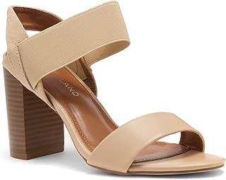Shoe Land SL-Mullyra Womens Strappy Open Toe Shoe Block Chunky Stacked Heel Sandal Mid Heel Comfortable Walking Sandals