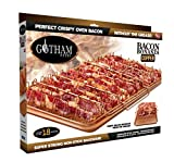 Gotham Steel Bonanza XL Healthier Perfectly Crispy Oven-Bacon Drip Rack Tray with Pan with Nonstick Easy Clean Surface  As Seen on TV