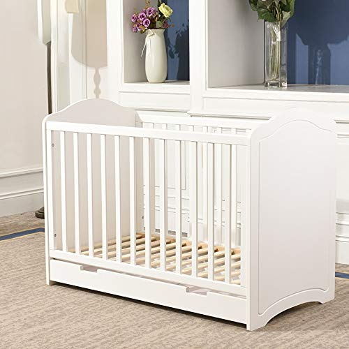 Great Price! HIZLJJ Baby Classic 4-in-1 Convertible Crib with Drawer and Toddler Bed Conversion Kit,...