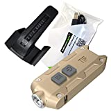Nitecore TIP 360 lumen 2017 USB rechargeable keychain light with EdisonBright brand USB charging cable (Gold)