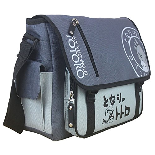 KINOMOTO Anime Tonari no Totoro Cosplay Satchel Messenger Bag School Shoulder Bag Crossbody Bag (Tonari no Totoro)