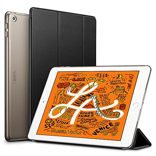 ESR iPad Mini 5 2019 ケース 軽量 薄型 PU レザー スマート カバー 耐衝撃 傷防止 クリア ハード 背面 ケ...