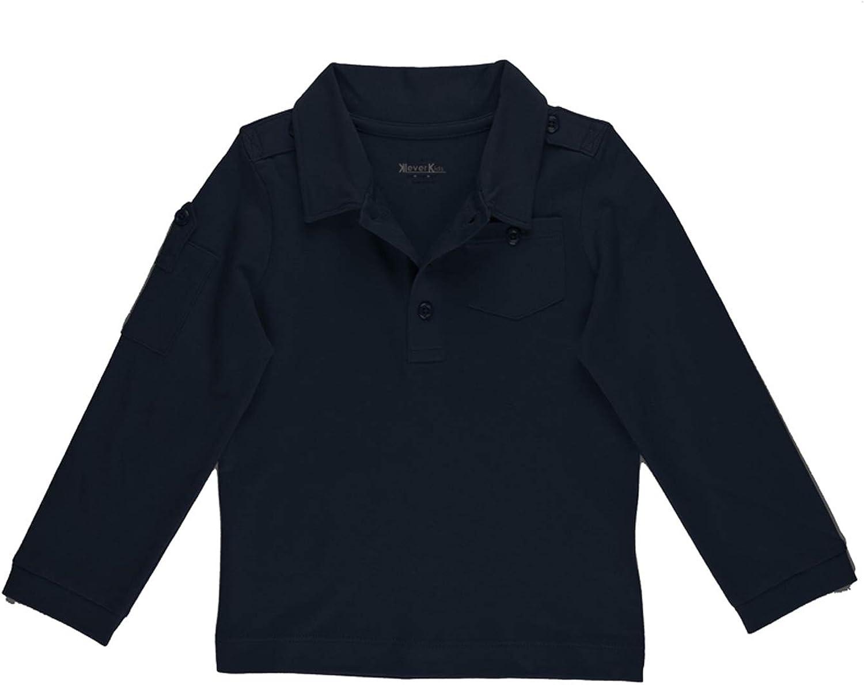 The Season Essentials Kidsy Boys Long Sleeve T-Shirt (Navy, 6-12 Months)