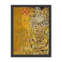 INOV グスタフクリムト アデレブロッホ バウアー 絵画 インテリア フレーム装飾画 アートポスター 額入り(30cm*40cm) 壁画 アートパネル 油絵 壁飾り 壁掛け 木枠付き