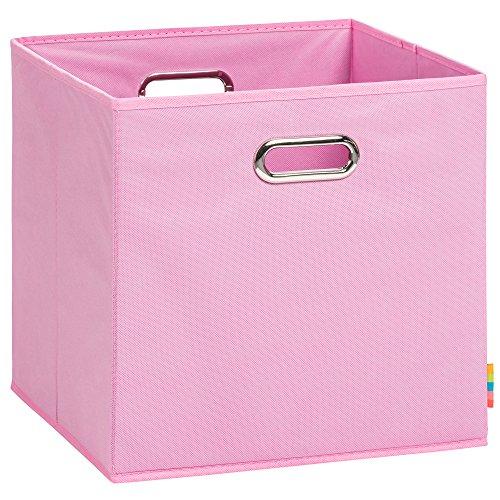 (H&S) Aufbewahrungsbox LEA - Faltbox - Korb - 33x33x33 cm - (Rosa)