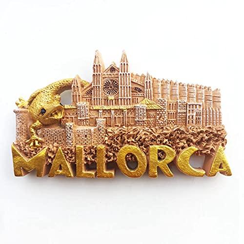 Catedral de Palma de Mallorca España Imán de Nevera 3D Resina de la Ciudad de Viaje Recuerdo Colección de Regalo Fuerte Etiqueta Engomada refrigerador