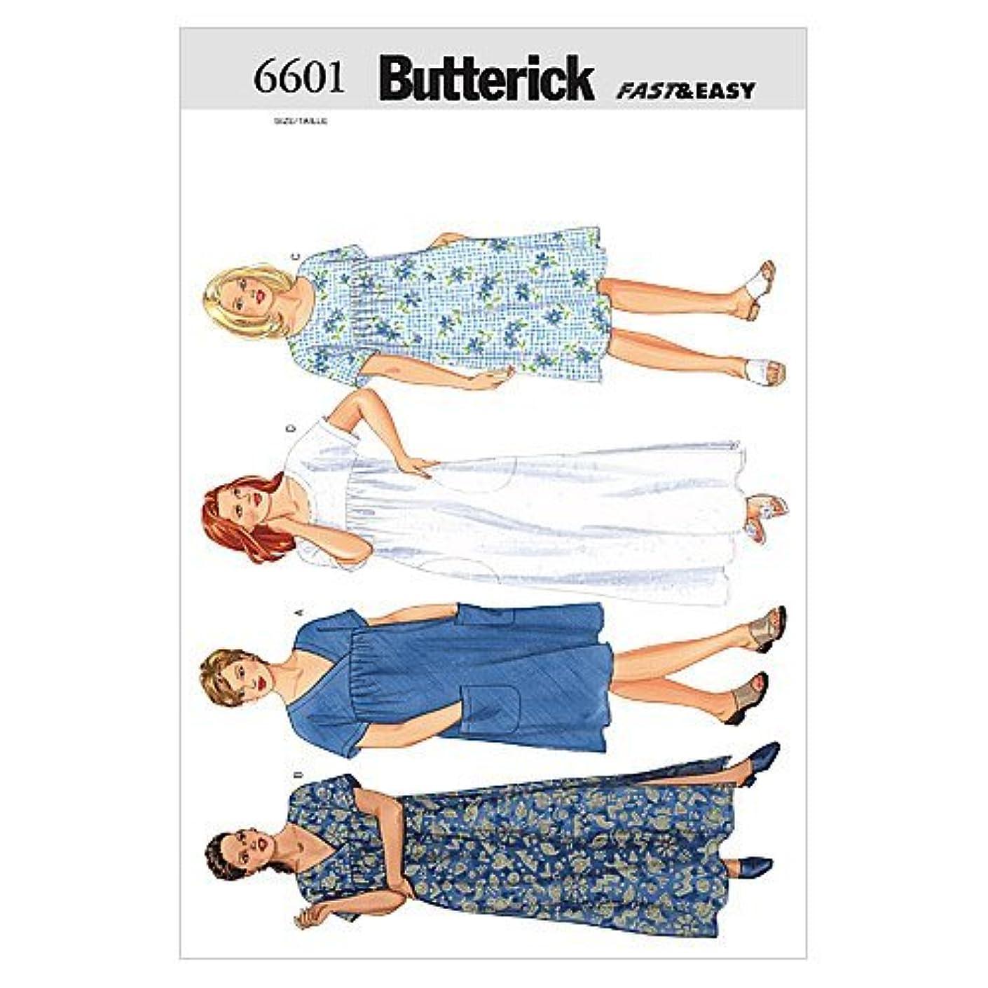 BUTTERICK PATTERNS B6601 Women's/Women's Petite Dress, Size 22W-24W-26W