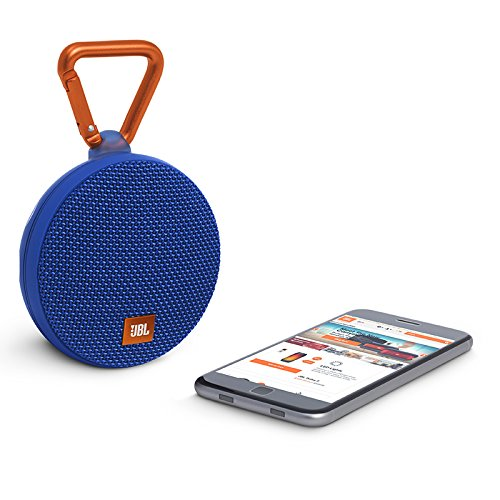 JBL Clip 2 Waterproof Portable Bluetooth Speaker (Blue)
