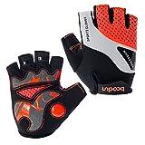 BOODUN Cycling Gloves for Men/Women Half Finger Cycling Gloves Breathable Non-slip Gloves - Orange - L