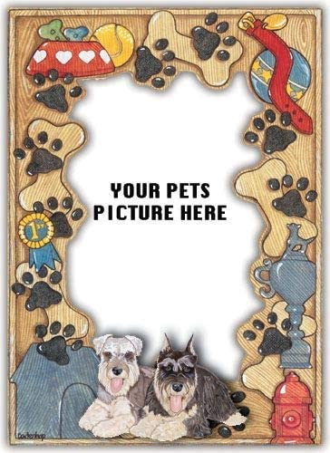 Animal Theme Gifts Schnauzer Tucson Mall Frame Picture Excellent