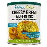 Diabetic Kitchen Gluten Free Cheesy Bread Mix – Keto Friendly Mix Puts Cheesy Bread Biscuits Back On Your Menu – Low Carb, Sugar-Free, Gluten-Free, 7g Fiber, Non-GMO