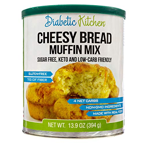 Diabetic Kitchen Gluten Free Cheesy Bread Mix – Keto Friendly Mix Puts Cheesy Bread Biscuits Back On Your Menu – Low Carb, Sugar-Free, Gluten-Free, 7g Fiber, Non-GMO