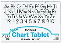 Becker's School Supplies Pacon Chart Tablet Packs 24 x 16 1? Ruling (Pack of 4) [並行輸入品]