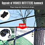 WINNER OUTFITTERS Double Camping Hammock - Lightweight Nylon Portable Hammock, Best Parachute Double Hammock For…