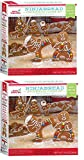 Crafty Cookie Kits - Cookie Mix With Cookie Cutters - In The Mix Ugly Sweater Cookie Kit, 11.5 Ounce And Gingerbread Cookie Kit, Ninja, 9.5 Ounce (2 Boxes Ninjabread)