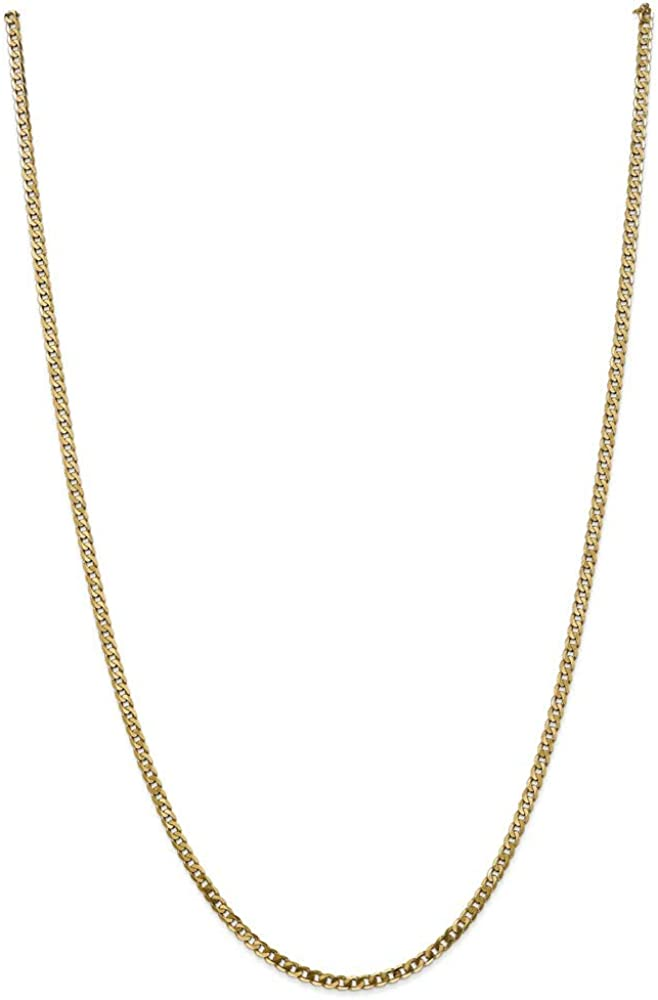 14k スピード対応 全国送料無料 Yellow ファッション通販 Gold 2.9mm Curb Beveled Necklace Chain