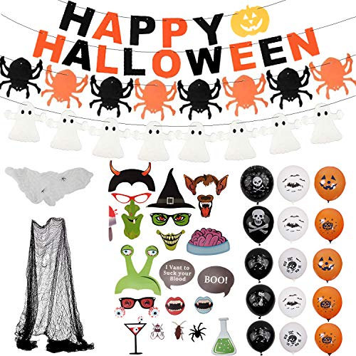 Halloween Decorazioni Horror,Halloween Palloncini Lattice,Banner...