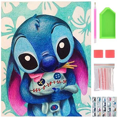 DIY Diamond Painting Kit, 40 x 30cm 5D Pintura Diamante, Cuadro Pintar con Numeros para Adultos, Punto de Cruz Diamante Kit...