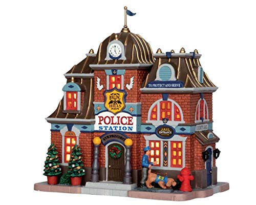 2015 Rolling Hills Police Station Christmas Village Lighted Building