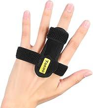 Trigger Finger Splint, Half Finger Brace Finger Straightening Immobilizer met Aluminium Ondersteuning voor Mallet vinger, ...