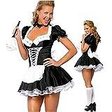 Cosplay Disfraces Sexis de Talla Grande S 5XL Disfraz de sirvienta Nocturna para Mujer Disfraz de Cosplay para Halloween Vestido de sirvienta exótico para Mujer A M