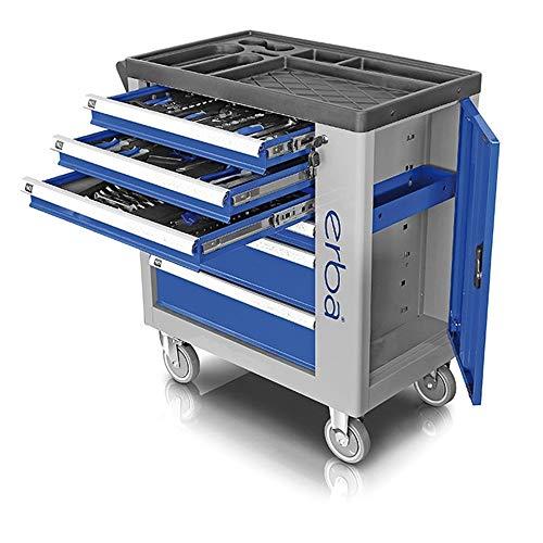 ERBA Werkstattwagen mit 6 Laden inkl. 135 tlg. Werkzeugsatz